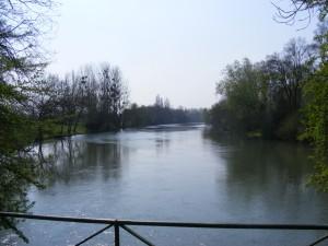 """La Cisse au lieu-dit """"les madères"""" sur la commune de Vernou-sur-Brenne (la Cisse y fait 40m de largeur)"""