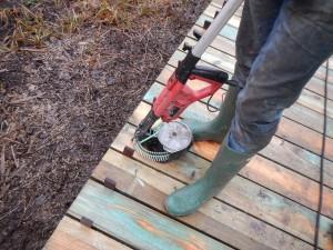 fixation des planches par coulteuses thermique