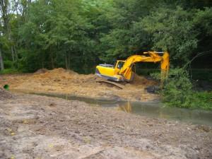 Les travaux ont nécessité un apport important de matériaux terreux