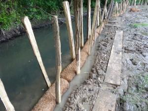 Lorsque les blocs ne sont pas nécessaire,l'utilisation de boudin coco a été priviliégiée