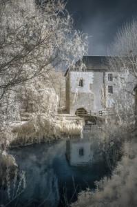 Photo 1 DSC_3670 - PETRE- moulin d'arrivay à Fossé la Cisse (photo infra-rouge)