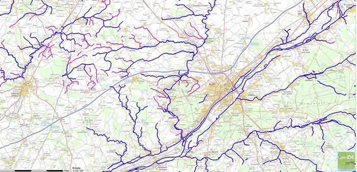 bannière carte des cours d'eau